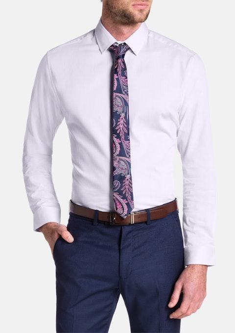 Pink Cyrus Slim Textured Dress Shirt