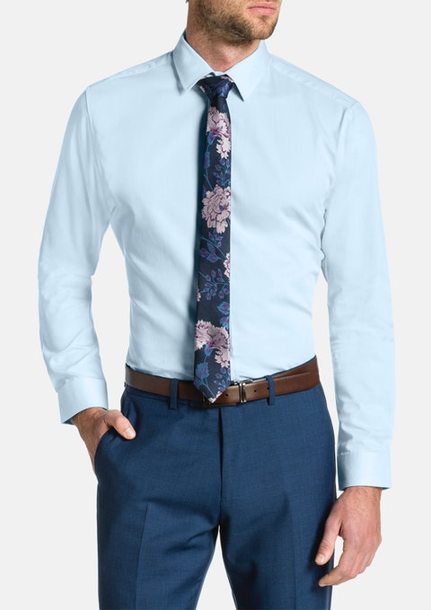Sky Cyrus Slim Textured Dress Shirt