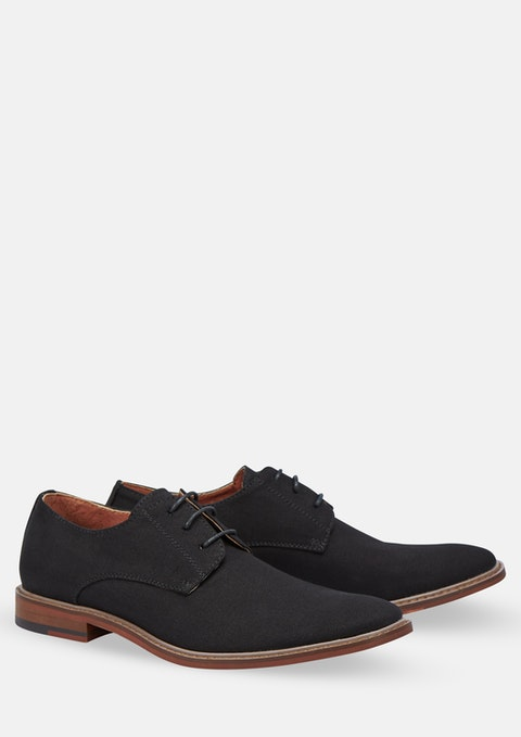 Black Canvas Derby Shoe