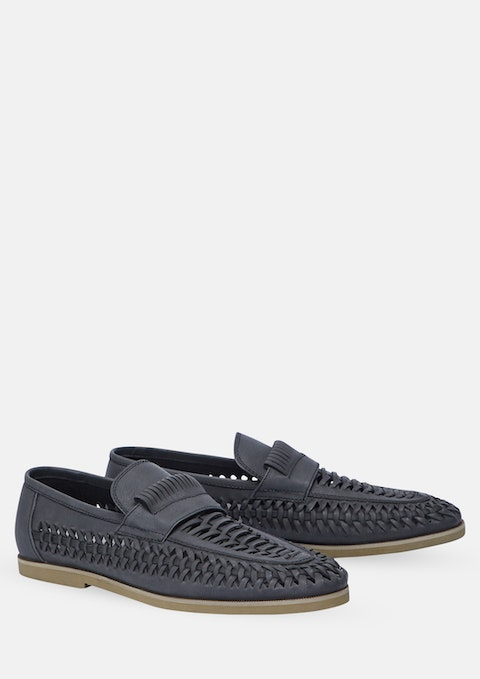 Black Harry Slip On Shoe