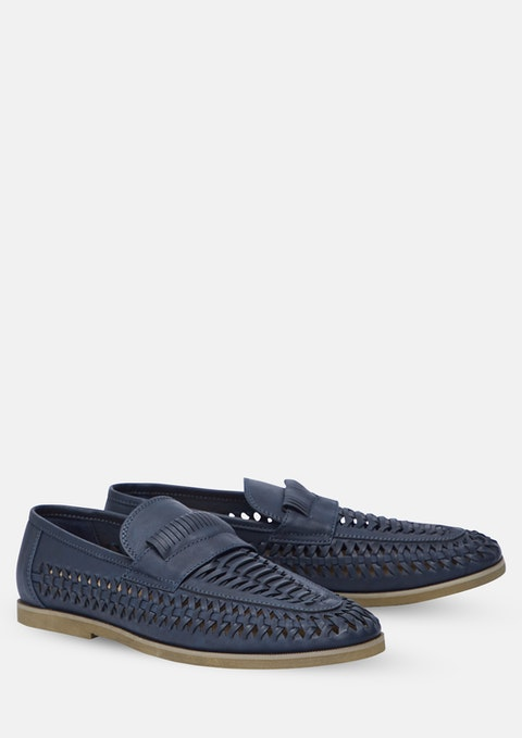Navy Harry Slip On Shoe