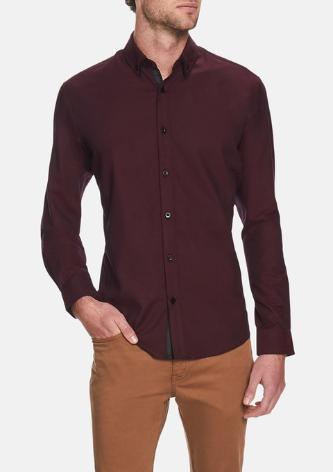 Burgundy Elron Textured Shirt