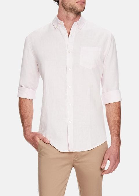 Pink Elliott Linen Blend Shirt