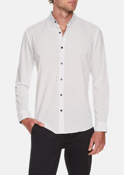 White Bevers Print Shirt
