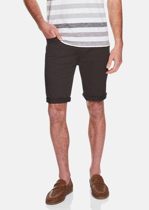Charcoal Benji Stretch Short