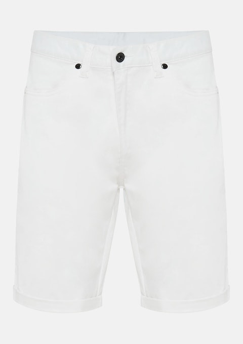 White Benji Stretch Short