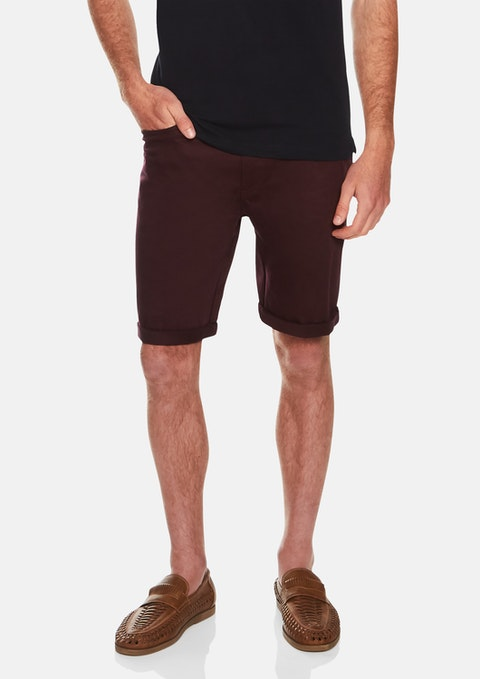 Wine Benji Stretch Short