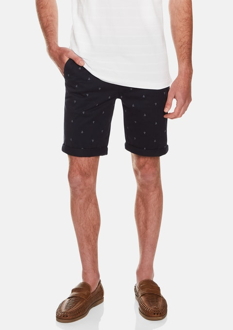 Navy Sail Away Short