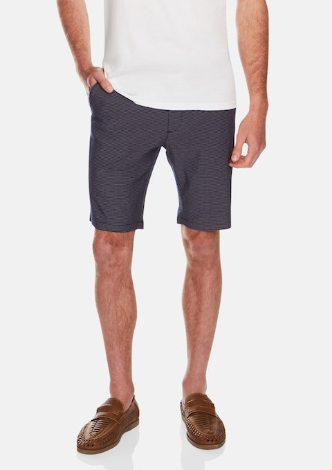 Blue Nautic Stretch Short