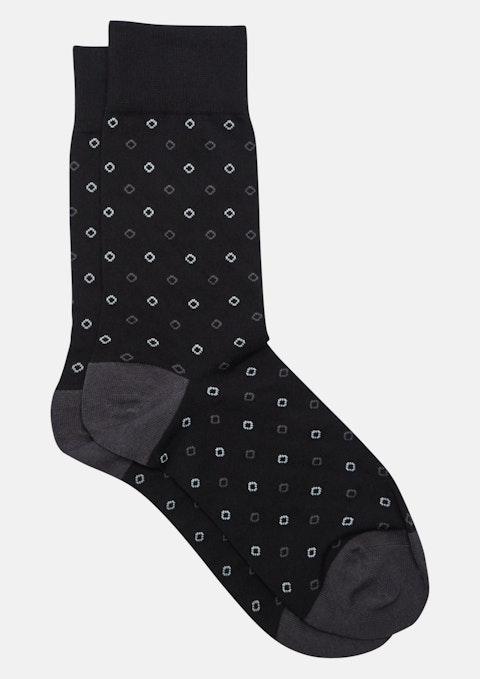Black Jacquard Diamond Sock