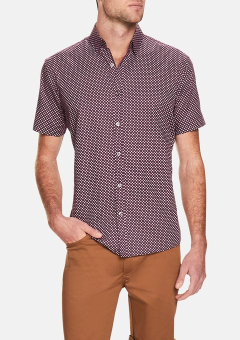 Berry Geo Print Shirt