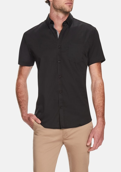 Black Dempsey Stretch Shirt