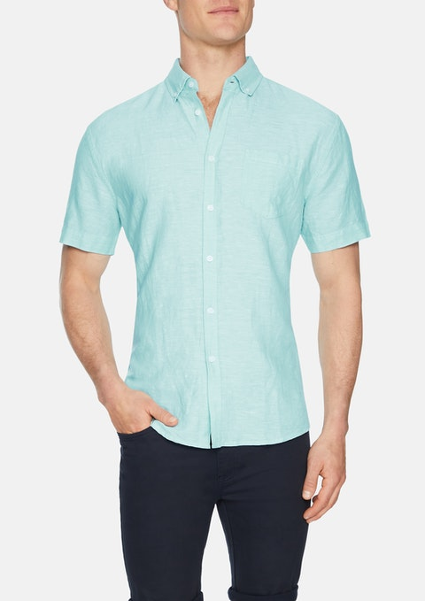 Aqua Peterson Linen Blend Shirt