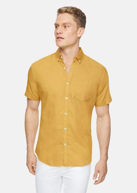 Mustard Peterson Linen Shirt