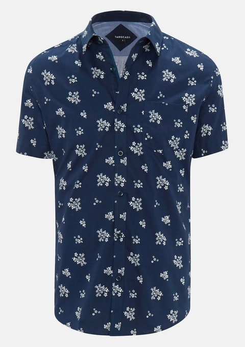 Navy Sheridan Print Shirt