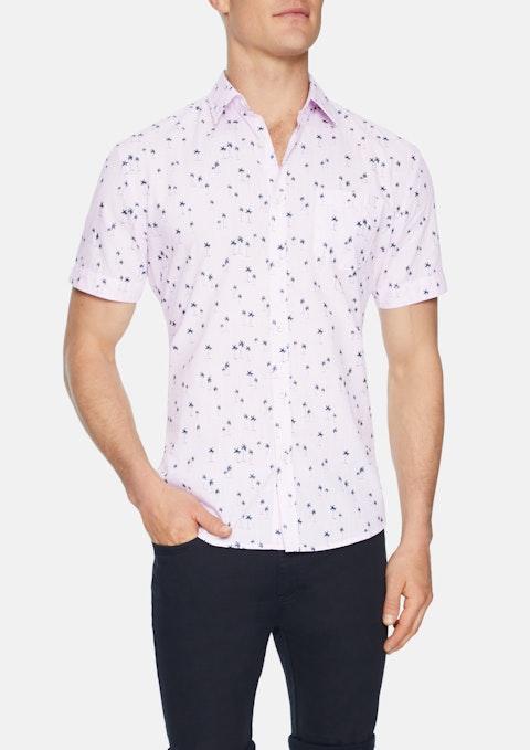 Pink Kokomo Palm Print Shirt