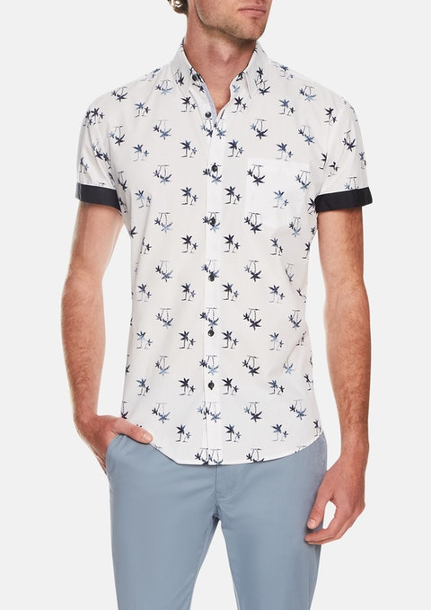 White Island Palm Print Shirt