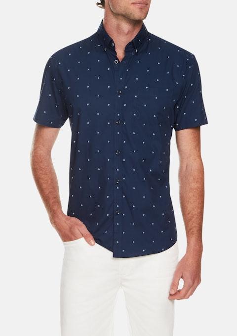 Blue Yacht Print Shirt