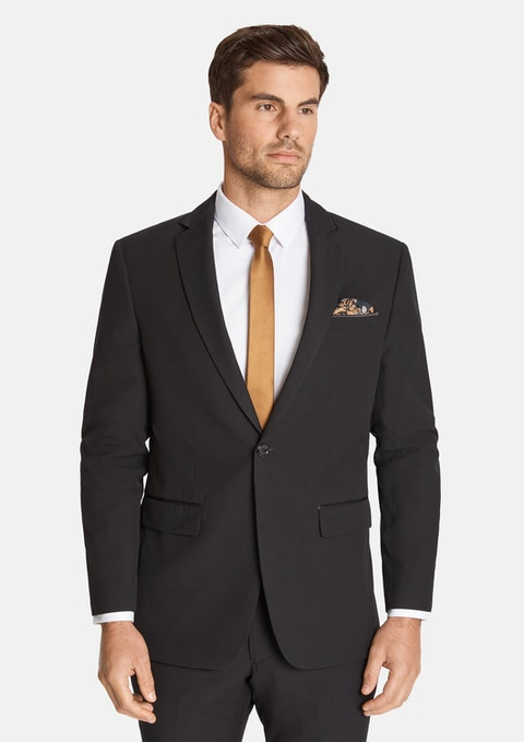 Black Bond Trim 1 Button Suit
