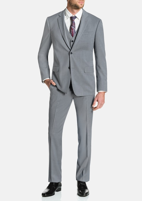 Silver Brosnan Stretch 2 Button Suit
