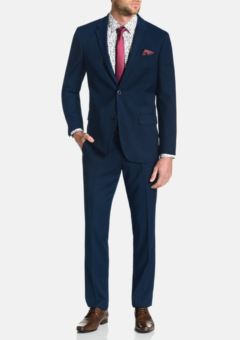 Navy Lewis Stretch 2 Button Suit