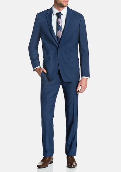 Blue Nixon 1 Button Suit