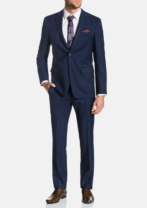 Navy Kennedy Stretch 2 Button Suit