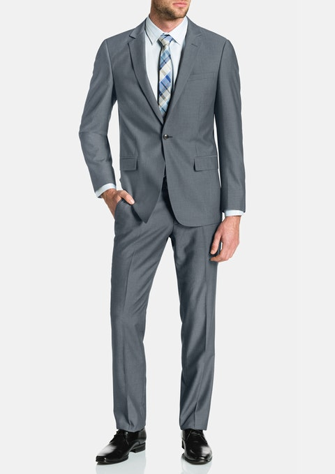 Pewter Lincoln 1 Button Suit