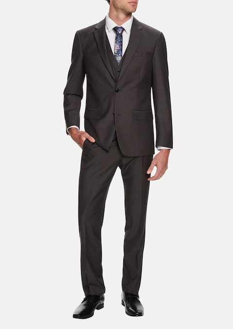 Steel Cavill Textured 2 Button Suit