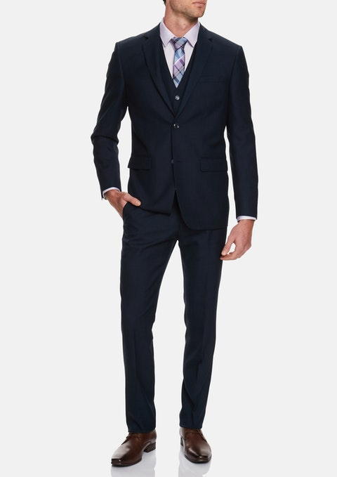 Navy Truman 2 Button Suit