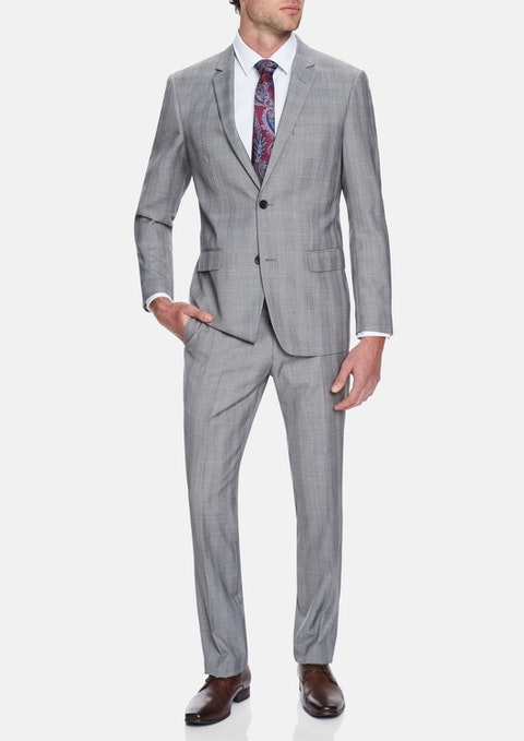 Grey Reserve Check 2 Button Suit