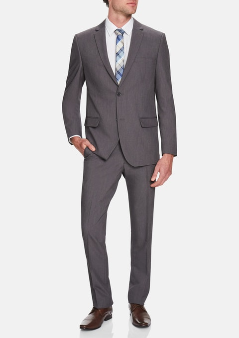Charcoal Eugene Stretch 2 Button Suit