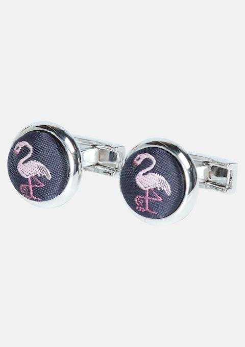 Silver Flamingo Cufflink