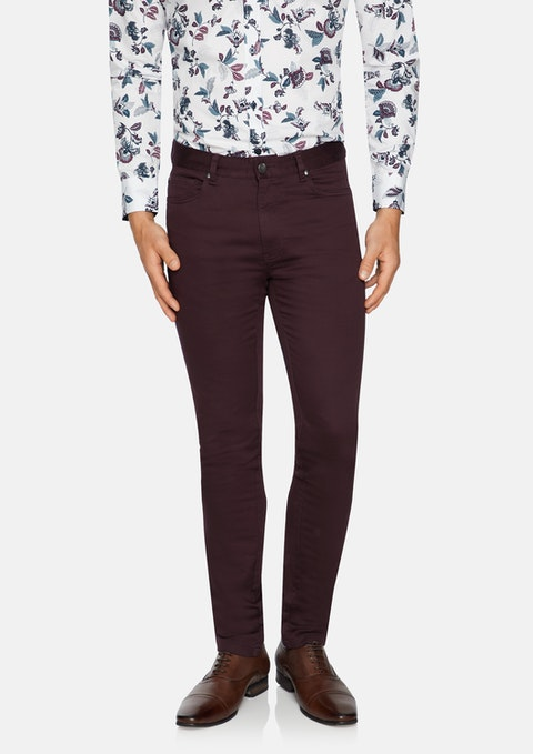 Burgundy Ultimate Slim Chino