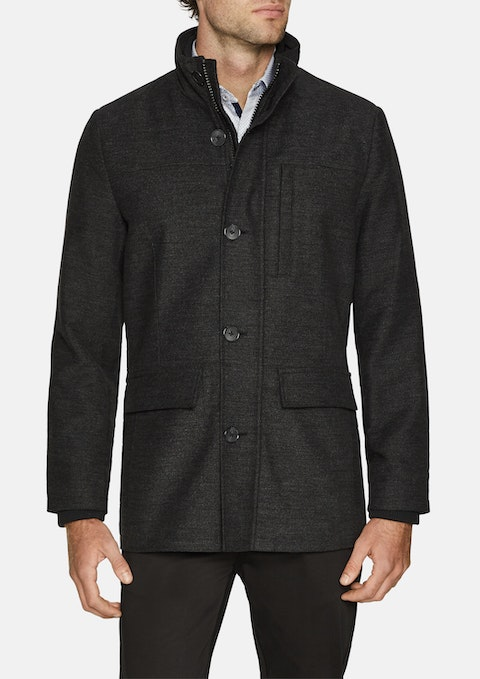 Charcoal Savage Textured Jacket