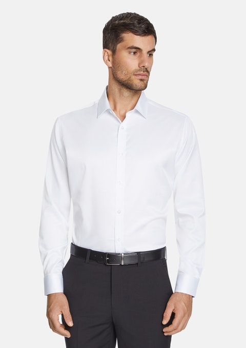 White Murphy Stretch Non Iron Shirt