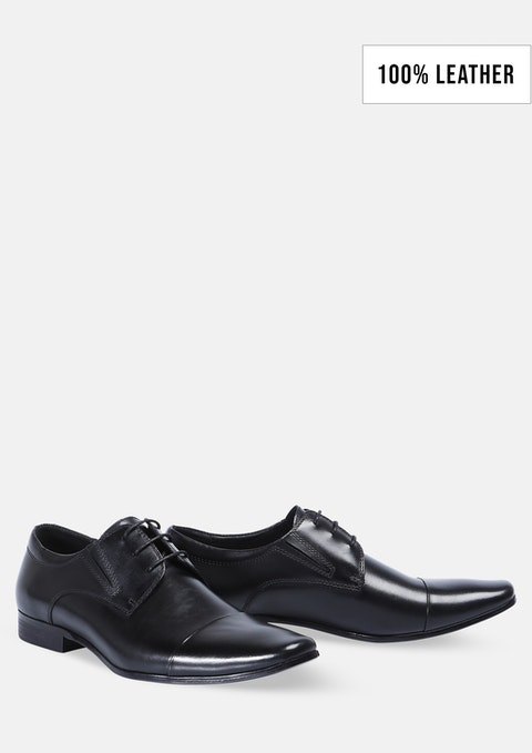 Black Whiskey Lace Up Shoe