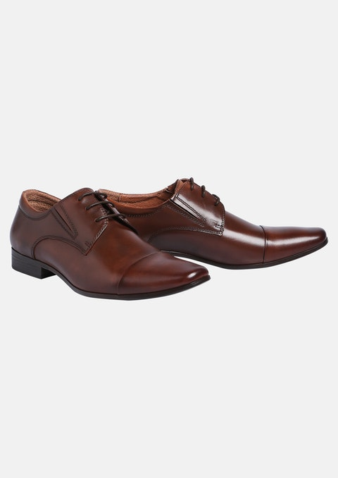Brown Whiskey Lace Up Shoe