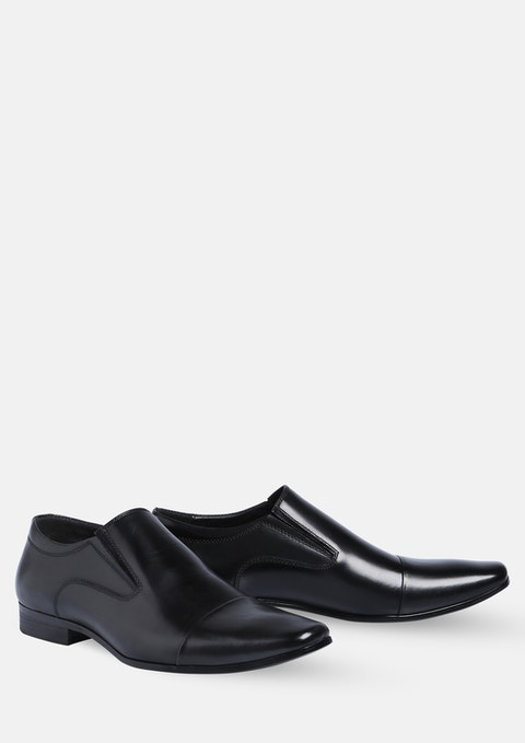Black Whiskey Slip On Shoe