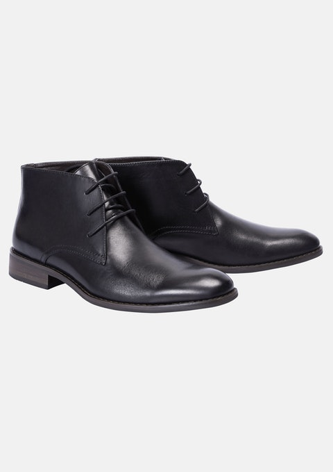Black Morgan Lace Up Boot