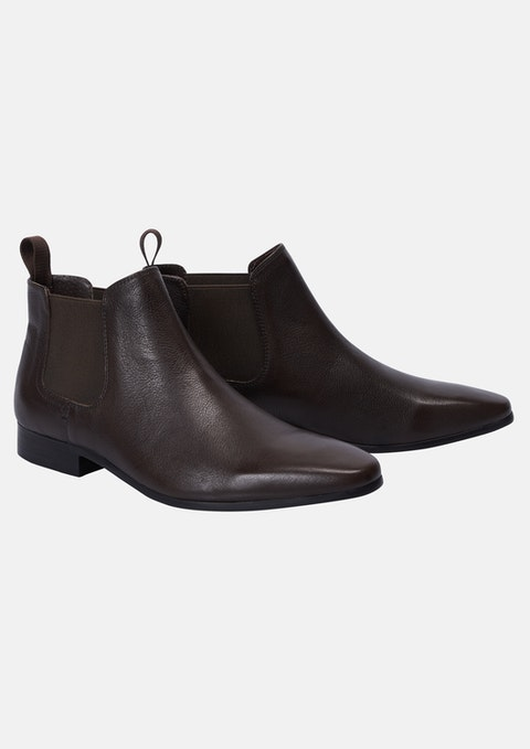 Cognac Commons Gusset Boot