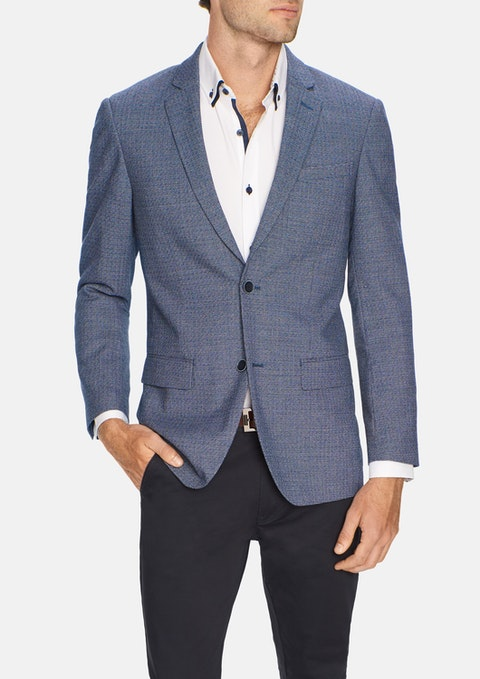 Blue Wade Textured Blazer