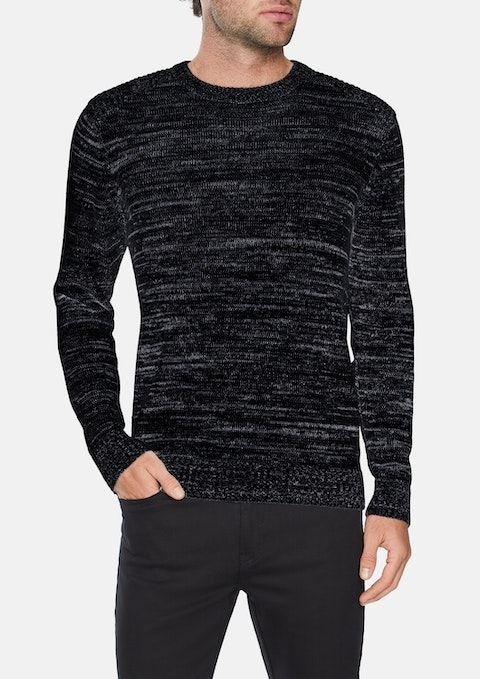 Charcoal Carson Crew-neck Knit