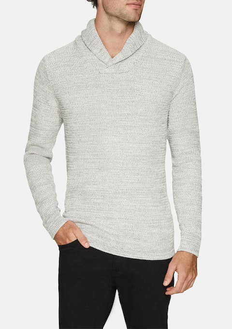 Ice Colby Shawl Collar Knit