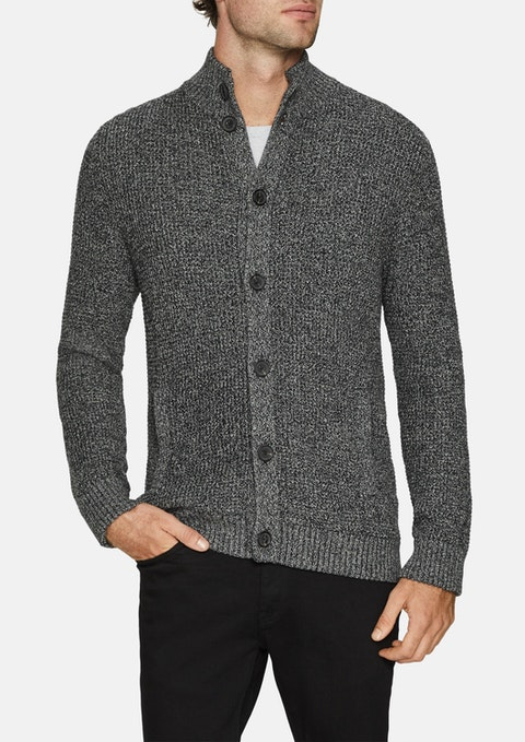 Charcoal Harrison Textured Cardigan