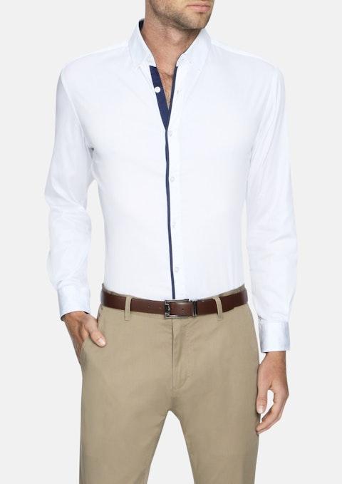 White Howard Slim Stretch Shirt