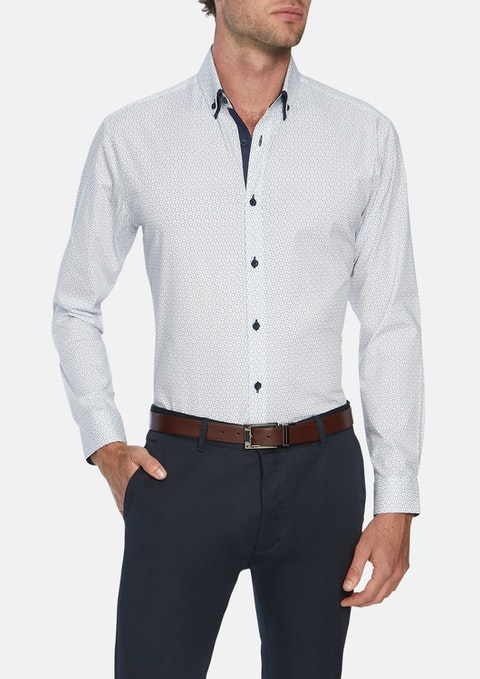 White Foster Slim Stretch Shirt