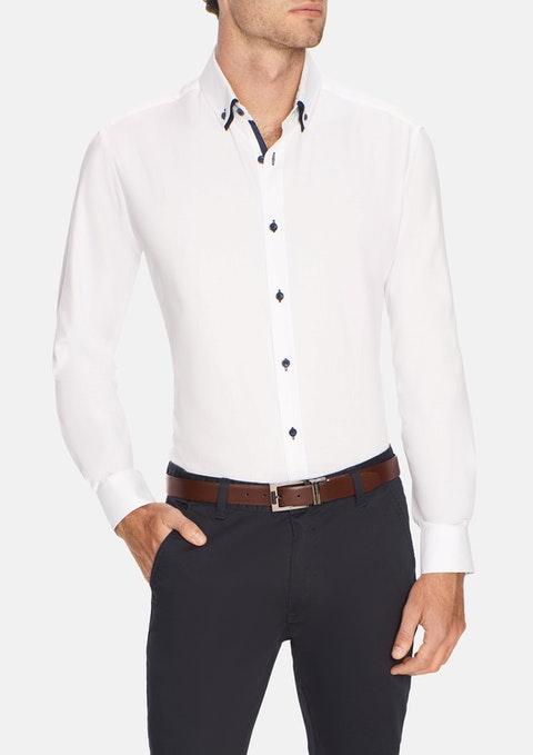 White Damon Textured Shirt
