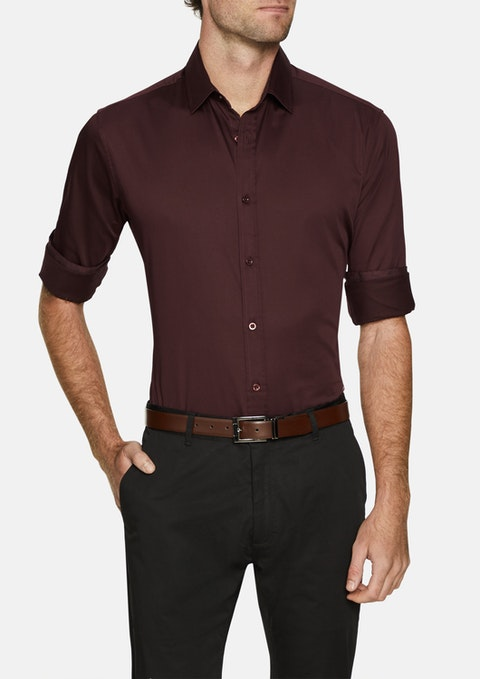 Burgundy Brock Stretch Shirt