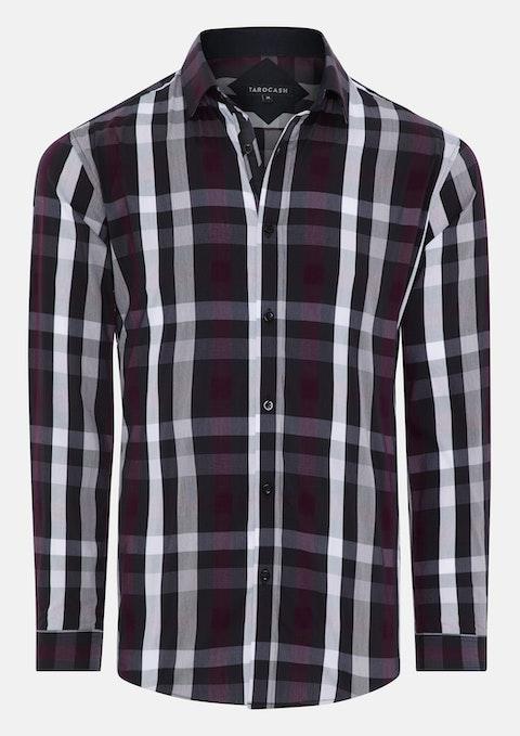 Burgundy Rowan Stretch Check Shirt